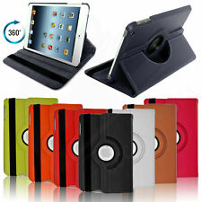 LEATHER 360 DEGREE ROTATING SMART CASE STAND COVER FOR APPLE IPAD & SAMSUNG TABS