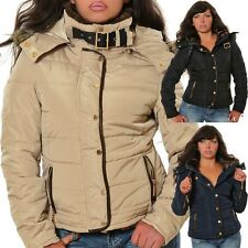 Damen Jacke Winterjacke Daunen-Look Steppjacke Winter Stepp Outdoor Kapuze P1450