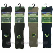 LONG MILITARY ACTION THERMAL BOOT SOCKS WITH CUSHIONED SOLE ARMY WOOL BLEND