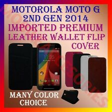 ACM-MULTI-COLOR IMPORTED LEATHER CASE for MOTOROLA MOTO G 2ND GEN 2014 COVER NEW