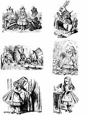 alice in wonderland ironon t shirt transfer or sticker  6 pictures on A4