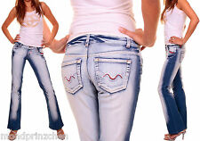 CRAZY FILLE Retro Jeans Bootcut Taille Basse Taille . 34-40