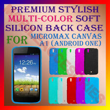ACM-PREMIUM COLOR SOFT SILICON BACK CASE MICROMAX CANVAS A1 (ANDROID ONE) COVER
