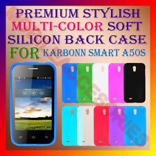 ACM-PREMIUM RICH MULTI-COLOR SOFT SILICON BACK CASE for KARBONN SMART A50S COVER