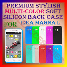 ACM-PREMIUM MULTI-COLOR SOFT SILICON BACK CASE for IDEA MAGNA L MOBILE COVER NEW
