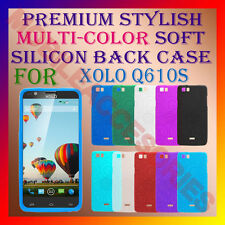 ACM-PREMIUM RICH MULTI-COLOR SOFT SILICON BACK CASE for XOLO Q610s MOBILE COVER