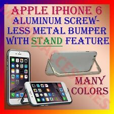 "ACM-ALUMINUM BUMPER with ""STAND"" CASE METAL SCREWLESS FRAME for APPLE IPHONE 6"