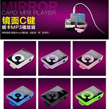 Hot Mini Portable Mirror Clip Metal USB MP3 Music Player Support 8GB SD TF Card