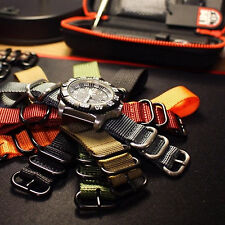 "5 Ring 11"" Long Diver Watch Strap Band correa de reloj 19,20,21,22,24mm"