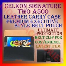 ACM-BELT CASE for CELKON SIGNATURE TWO A500 LEATHER POUCH CARRY COVER  HOLDER