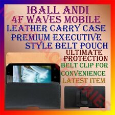 ACM-BELT CASE for IBALL ANDI 4F WAVES MOBILE LEATHER POUCH CARRY COVER CLIP NEW