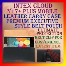 ACM-BELT CASE for INTEX CLOUD Y17+ PLUS MOBILE LEATHER POUCH CARRY COVER HOLDER