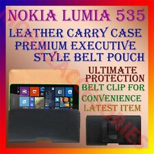 ACM-BELT CASE for NOKIA LUMIA 535 MOBILE LEATHER POUCH CARRY COVER CLIP HOLDER