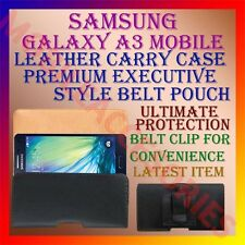 ACM-BELT CASE for SAMSUNG GALAXY A3 MOBILE LEATHER POUCH CARRY COVER CLIP HOLDER