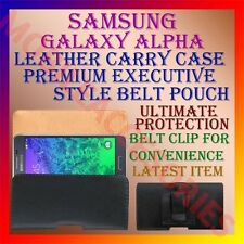 ACM-BELT CASE for SAMSUNG GALAXY ALPHA MOBILE LEATHER POUCH CARRY COVER CLIP NEW