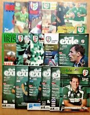 London Irish Rugby Programmes 1946 - 2009