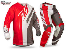 Fly Racing Kinetic Division Motocross Combo 2015 Rot MX Enduro Hose Jersey