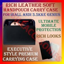 ACM-RICH LEATHER SOFT CASE of IBALL ANDI 3.5KKE GENIUS MOBILE HANDPOUCH COVER