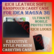 ACM-RICH LEATHER SOFT CASE for IDEA MAGNA 3G MOBILE HANDPOUCH COVER HOLDER CASE