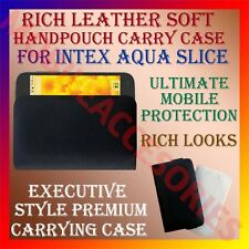 ACM-RICH LEATHER SOFT CASE of INTEX AQUA SLICE MOBILE HANDPOUCH COVER HOLDER NEW
