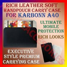 ACM-RICH LEATHER SOFT CASE for KARBONN A40 MOBILE HANDPOUCH MOBILE COVER HOLDER