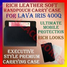 ACM-RICH LEATHER SOFT CASE for LAVA IRIS 400Q MOBILE HANDPOUCH COVER HOLDER NEW