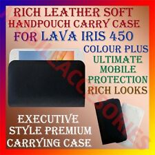 ACM-RICH LEATHER SOFT CASE for LAVA IRIS 450 COLOUR PLUS HANDPOUCH COVER HOLDER