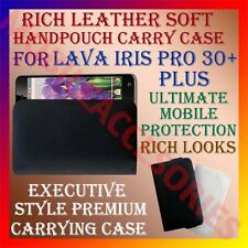 ACM-RICH LEATHER SOFT CASE for LAVA IRIS PRO 30+ PLUS MOBILE HANDPOUCH COVER