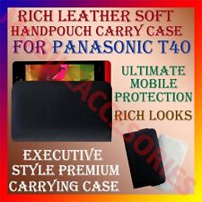 ACM-RICH LEATHER SOFT CASE for PANASONIC T40 MOBILE HANDPOUCH COVER HOLDER NEW