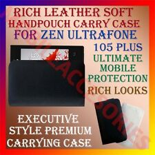 ACM-RICH LEATHER SOFT CASE for ZEN ULTRAFONE 105 PLUS MOBILE HANDPOUCH COVER