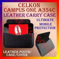 ACM-HORIZONTAL LEATHER CARRY CASE for CELKON CAMPUS ONE A354C MOBILE POUCH COVER