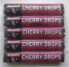 PACKS OF BASSETTS CHERRY DROPS HARD BOILED RETRO CHERRY SWEETS CHOOSE AMOUNT