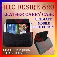 ACM-HORIZONTAL LEATHER CARRY CASE for HTC DESIRE 820 MOBILE POUCH COVER HOLDER