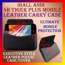 ACM-HORIZONTAL LEATHER CARRY CASE for IBALL ANDI 4H TIGER PLUS MOBILE RICH COVER