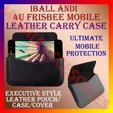 ACM-HORIZONTAL LEATHER CARRY CASE for IBALL ANDI 4U FRISBEE MOBILE RICH COVER