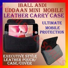 ACM-HORIZONTAL LEATHER CARRY CASE for IBALL ANDI UDDAAN MINI MOBILE POUCH COVER