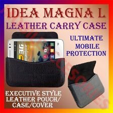 ACM-HORIZONTAL LEATHER CARRY CASE for IDEA MAGNA L MOBILE POUCH COVER HOLDER NEW