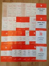 London Welsh Rugby Programmes 1958 - 1988