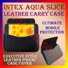 ACM-HORIZONTAL LEATHER CARRY CASE for INTEX AQUA SLICE MOBILE POUCH COVER HOLDER