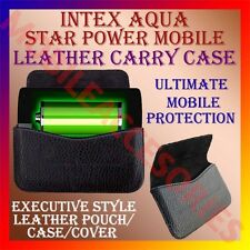 ACM-HORIZONTAL LEATHER CARRY CASE of INTEX AQUA STAR POWER MOBILE POUCH COVER