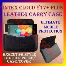 ACM-HORIZONTAL LEATHER CARRY CASE of INTEX CLOUD Y17+ PLUS MOBILE POUCH COVER