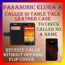 ACM-CALLER ID TABLE TALK CASE for PANASONIC ELUGA A MOBILE  FLAP FLIP COVER NEW