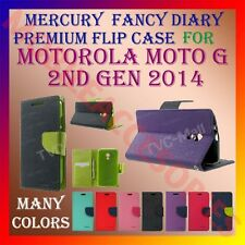 ACM-MERCURY PREMIUM DIARY FLIP FLAP CASE for MOTOROLA MOTO G 2ND GEN 2014 COVER