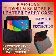 ACM-HORIZONTAL LEATHER CARRY CASE for KARBONN TITANIUM S6 MOBILE POUCH HOLDER