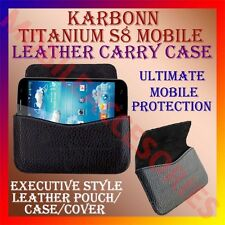 ACM-HORIZONTAL LEATHER CARRY CASE for KARBONN TITANIUM S8 MOBILE POUCH COVER NEW