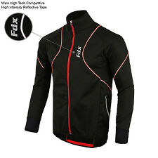 FDX Mens Performance Cycling Jacket Wind stopper Thermal Winter Running Hi viz