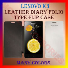 ACM-LEATHER DIARY FOLIO FLIP CASE COVER for LENOVO K3 MOBILE FRONT & BACK FLAP