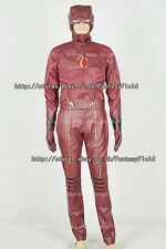 The Flash 2014 Barry Allen Cosplay Costume Red Leather Uniform Cosplay Halloween