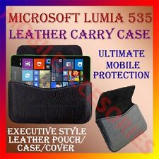 ACM-HORIZONTAL LEATHER CARRY CASE for MICROSOFT LUMIA 535 MOBILE POUCH COVER NEW