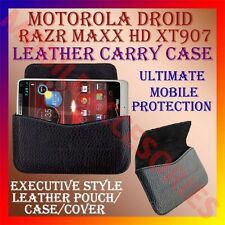 ACM-HORIZONTAL LEATHER CARRY CASE for MOTOROLA DROID RAZR MAXX HD XT907 COVER